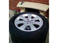 Audi 5stud alloy wheels (damaged)