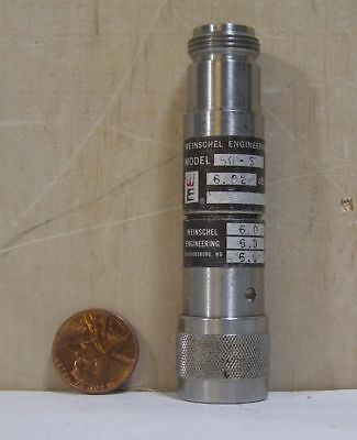 Weinschel Engineering Fixed Coaxial Attenuator Model50-6 6.02db Snt6748