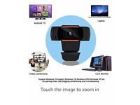 HD 1080P Webcam with Microphone for PC/Laptop/Mac