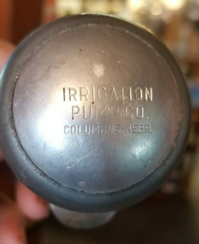 Vintage IRRIGATION PUMP CO Steering Wheel Knob COLUMBUS NEBRASKA