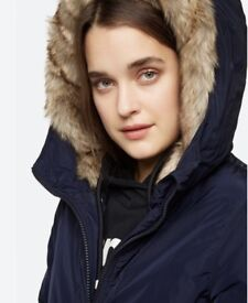 Ladies BENCH Jacket With Faux Fur Hood