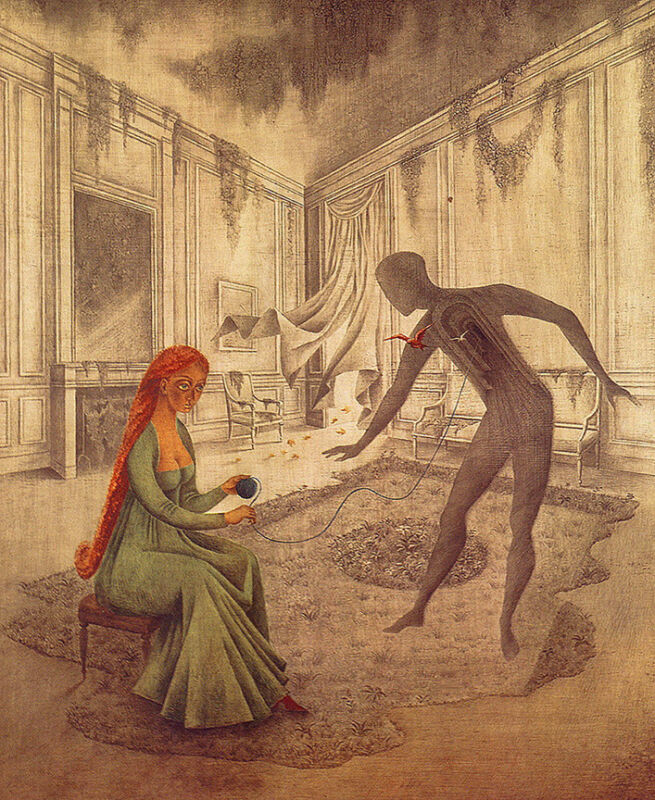 Dead Leave  by Remedios Varo   Giclee Canvas Print Repro