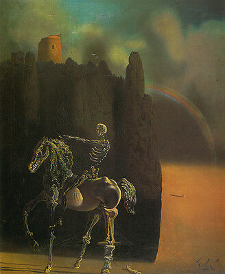 The Horseman of Death  by Salvador Dali  Giclee Canvas Print Repro