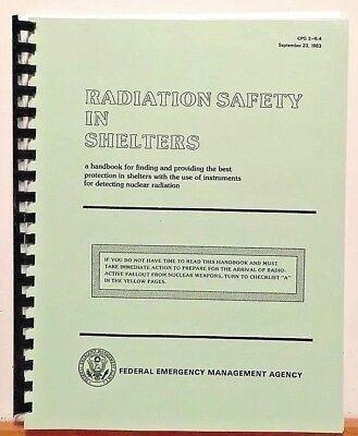 FEMA Radiation Safety In Shelters 1983 CDV-715 742 Handbooks 750