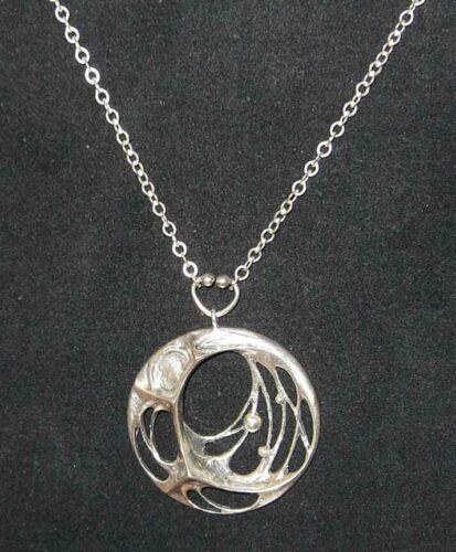Modern Design Pendant Spiderweb Sten Laine Finland Sterling Silver Finland Mid