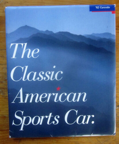 1992 Chevrolet CORVETTE Sales Catalog  SEALED