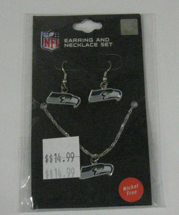 NFL Seattle Seahawks Women's Earring & Necklace Set New Nip