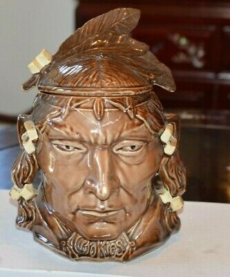 RAREVINTAGE MCCOY INDIAN HEAD COOKIE JAR 1954 -'56 COLLECTOR'S ITEM