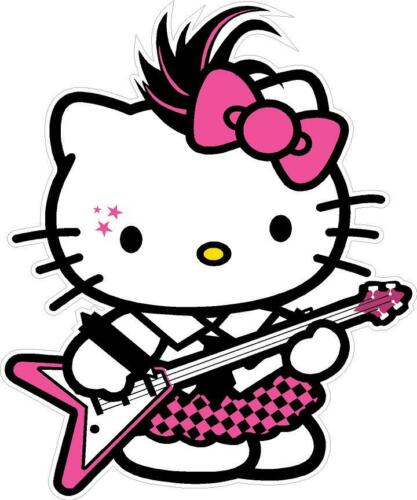 HELLO KITTY ROCKER DECAL STICKER **FREE SHIPPING**