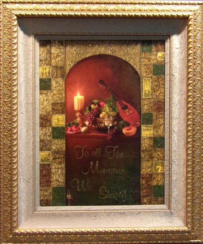 Manaz To All The Memories We Share Embellished On Canvas Custom Frame Hs