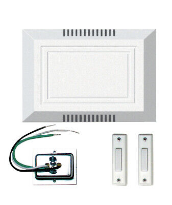 Craftmade White Builder Chime Kit with 2 Lighted Push Button