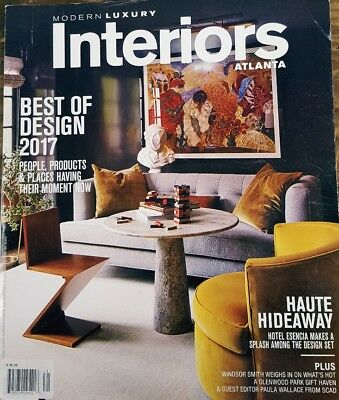 Modern Luxury Interiors Atlanta Winter 2017 Best of Design FREE SHIPPING (Best Modern Interior Design)