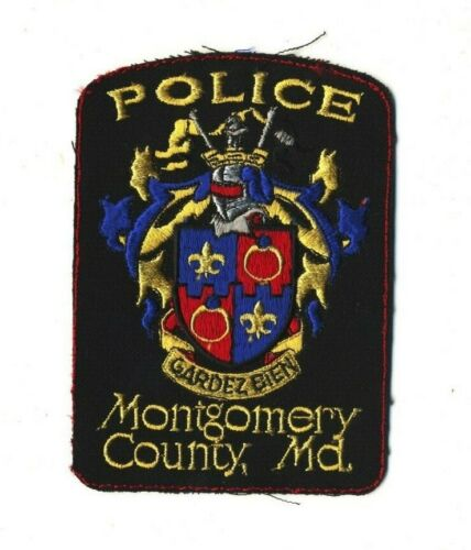 """Montgomery County MD Maryland Police 5"""" x 3.5"""" Unfinished Edges Lot of 14"""