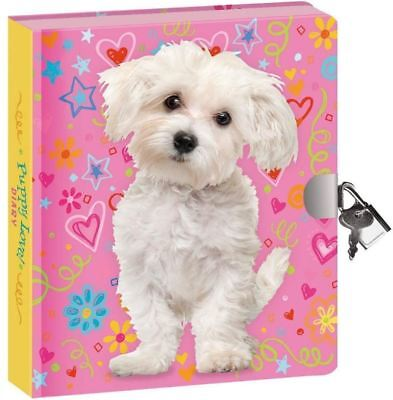 Best Secret Diary For Girls Kids With Lock And Key Puppy Love Journal Notebook - Journals For Girls