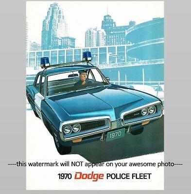 1970 Dodge Police Car PHOTO Vintage Ad Policeman Pursuit Vehicles