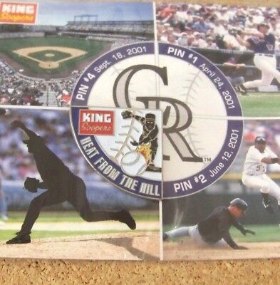 2001 Colorado Rockies Puzzle Pin  3 Heat From The Hill King Soopers
