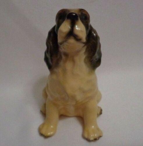 1950s MidCentury Mortens Studio Seated Springer Spaniel Dog