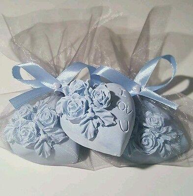 10 Duftsteine auf Verlobung Hochzeit Geburtstag für die Gäste  in versch. farben ()