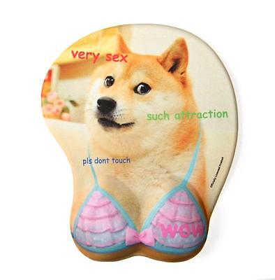 Doge 3D Oppai Mouse Mat - Dog Cute Boob Mousepad - Very Gaming Shiba Inu - Shibe