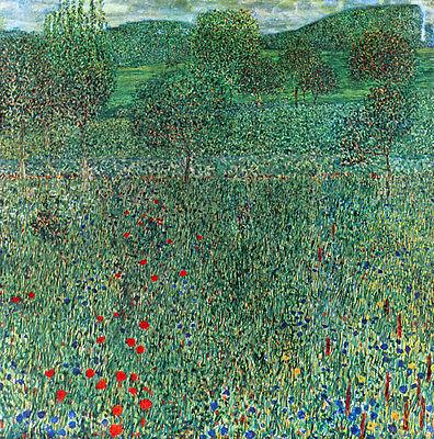 Garden Landscape   by Gustav Klimt  Paper Print Repro