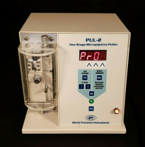World Precision PUL-2 Two-Stage Micropipette Pipette Puller Maker WPI - TESTED