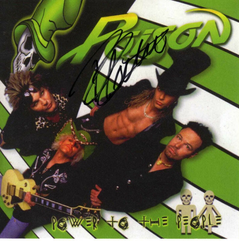 Rikki Rockett Autographed Poison Power To The People Signed CD Cover