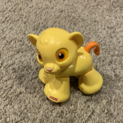 "Fisher Price Lion King Simba Baby Amazing Animals Click Figure 2012 Toy 4.5"" H"
