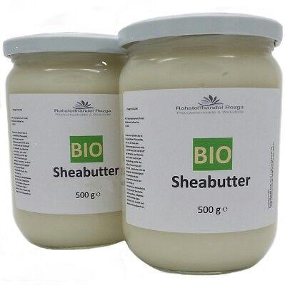 Sheabutter BIO 1 kg (2x 500g) 100% rein Shea Butter bio (18,29/kg) 1000 g