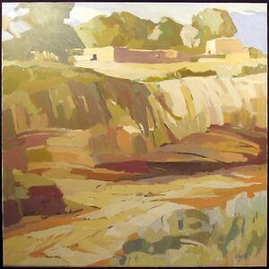 Jerry-Cajko-Red-Canyon-Signed-Original-OIL-PAINTING-ON-CANVAS-SUBMIT-OFFER