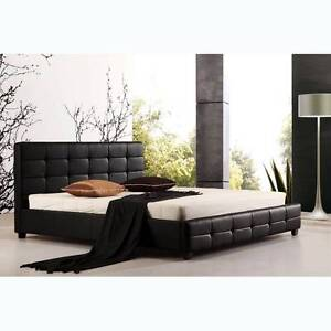 wholesale combo tommy black pu bed frame and mattress from 350 - Bed Frame And Mattress Combo