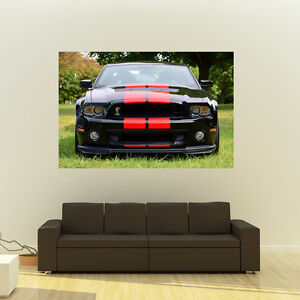 Ford-Shelby-GT500-Mustang-Giant-HD-Poster-Muscle-Car-Huge-Print-54x36-Inches