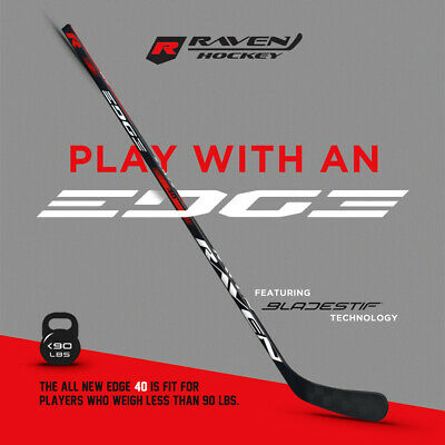 RAVEN EDGE 40 FLEX COMPOSITE JUNIOR HOCKEY STICK RIGHT HAND PLAYERS UNDER 90 LBS Composite Junior Hockey Stick