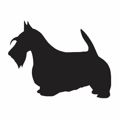 Scottish Terrier Breed Dog - Decal Sticker - Multiple Colors & Sizes - - Scottish Terrier Colors