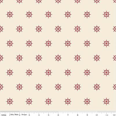 Pirate Matey (Pirate Matey's Red Wheels by Emily Taylor Designs for Riley Blake, 1/2 yd fabric)