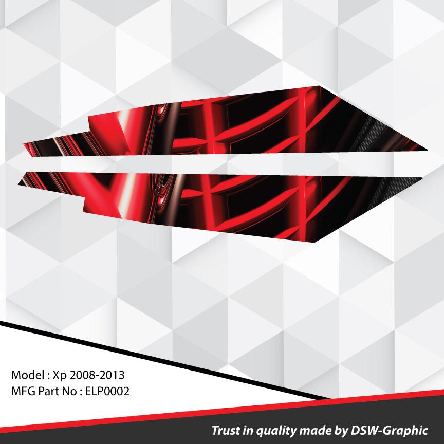 SKI-DOO XP MXZ SNOWMOBILE 121'' TUNNEL WRAP GRAPHICS DECAL KIT 2008-2013 ELP0002