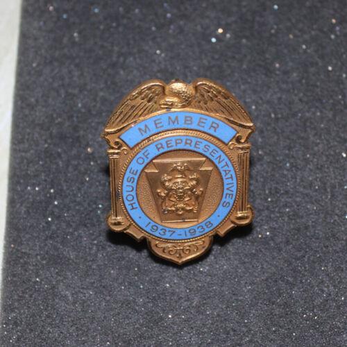 MEMBERS BADGE FROM PA. HOUSE OF REPRESENTATIVES 1937-38