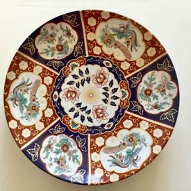 Large hand painted Moroccan ceramic dish