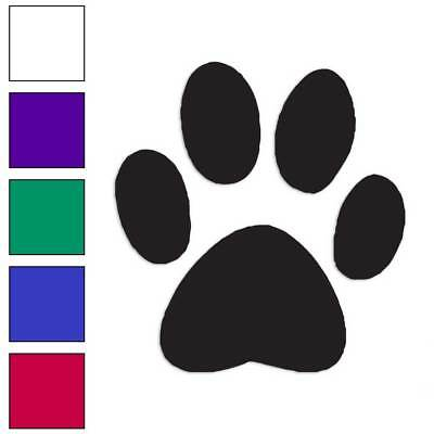 Paw Print Decals (Dog Paw Print Decal Sticker Choose Color + Size)