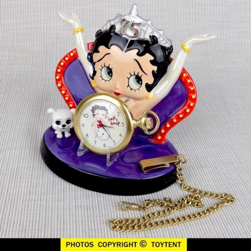 Betty Boop Fossil pocket watch + 75th anniversary vanity stand