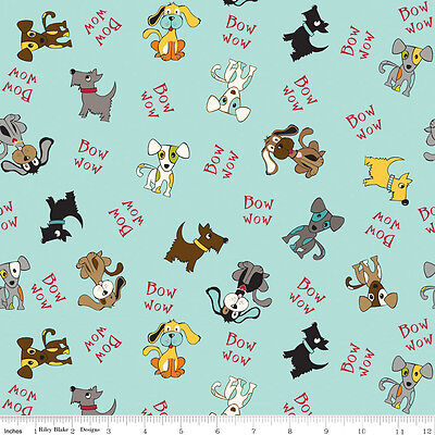 Puppy Park Bow Wow I Love My Dog I Spy Riley Blake By The Fat Quarter Oop