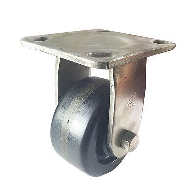 4 X 2 Heavy Duty Stainless Steel Phenolic Wheel Caster - Rigid