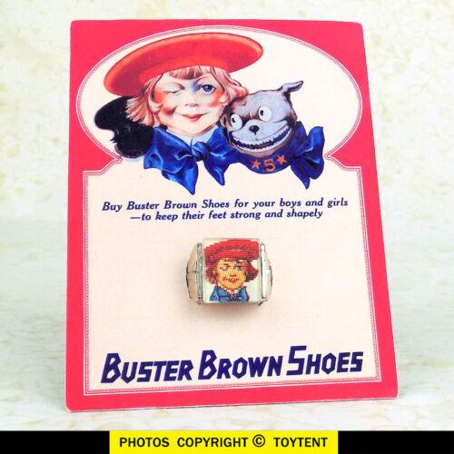 Buster Brown & his dog Tige lenticular art flicker ring shoe store premium