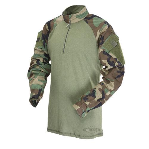 Tru-Spec Woodland/Olive Drab 1/4 Zip TRU Combat Shirt 50/50 NYCO RS