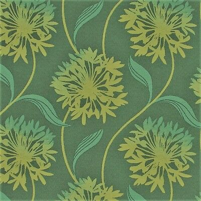 Contemporary Floral Fabric - Arc/com Laurel caribbean Large Modern Contemporary Floral Upholstery Fabric