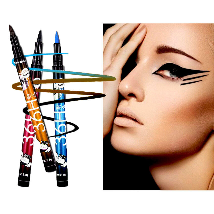 36H Eyeliner Waterproof Liquid Eye Liner Felt Tip Pen BLACK