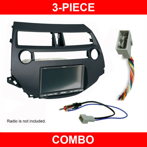 2008-2012 Honda Accord Double/Single DIN Radio Install Dash Kit w/  Wire Harness