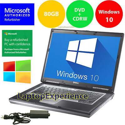 (DELL LAPTOP LATiTUDE D630 WINDOWS 10 CORE 2 DUO 2.0GHz CDRW DVD WiFi NOTEBOOK PC)