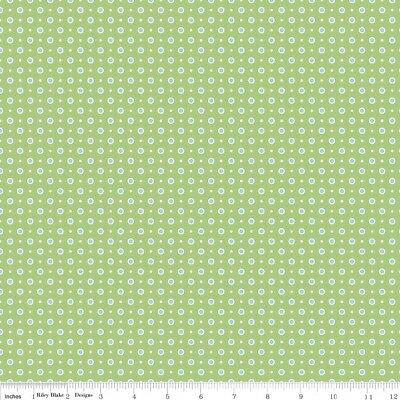 Bake Sale 2 Green Dot by Lori Holt of Bee in My Bonnet for Riley Blake, 1/2 yd