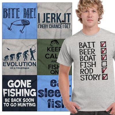 (Funny Fishing Jokes Graphic Tshirts | Fish Sayings Tee Shirt For Dad Gift Shirts)