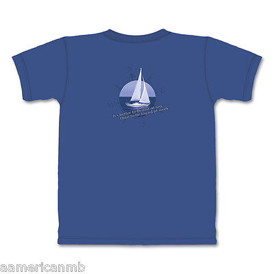 Mountain Life Tshirt Sailing Boat Compass Size 2XL Top Blue Better Be Lost @